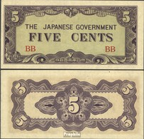 Birma Pick-Nr: 10a Bankfrisch 1942 5 Cents - Myanmar