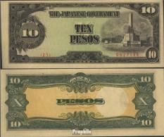 Philippinen Pick-Nr: 111a Bankfrisch 1943 10 Pesos - Philippinen
