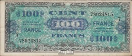 Frankreich Pick-Nr: 123c Gebraucht (III) 1944 100 Francs - Schatzamt
