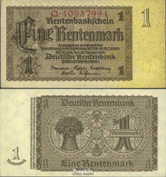 Deutsches Reich RosbgNr: 166b, Reichsdruckerei 8-stellige Kontrollnummer Bankfrisch 1937 1 Rentenmark - [ 3] 1918-1933 : República De Weimar
