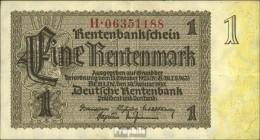 Deutsches Reich Rosenbg: 166c, Firmendruck 8stellige Kontrollnummer Gebraucht (III) 1937 1 Rentenmark - [ 3] 1918-1933 : República De Weimar