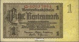 Deutsches Reich Rosenbg: 166b, Reichsdruckerei 8stellige Kontrollnummer Gebraucht (III) 1937 1 Rentenmark - [ 3] 1918-1933 : República De Weimar