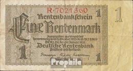 Deutsches Reich Rosenbg: 166a Reichsdruck, KN 7stellig Rot Stark Gebraucht (IV) 1937 1 Rentenmark - [ 3] 1918-1933 : República De Weimar