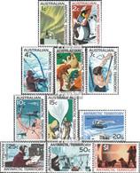 Austral. Gebiete Antarktis 8-18 (kompl.Ausg.) Jahrgang 1966 Komplett Postfrisch 1966 Forschung In Der Antarktis - Unused Stamps