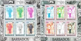 Barbados 502-508 Kleinbögen (kompl.Ausg.) Postfrisch 1980 Briefmarkenausstellung - Barbados (1966-...)