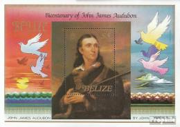 Belize Block67 (kompl.Ausg.) Postfrisch 1985 John James Audubon - Belize (1973-...)