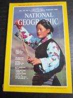 NATIONAL GEOGRAPHIC Vol. 157, N°2 1980 : Tibet - Tunisie - White Mountain Apache (sans La Carte Annoncée) - Géographie