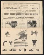 Prospectus - Sapeurs-pompiers – Matériel D'incendie Automobile Et A Bras Tous Systèmes - Nancy - Chaton Et Colin - Firemen