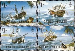 Cayes Of Belize 26-29 (kompl.Ausg.) Postfrisch 1985 Schiffswracks - Belize (1973-...)
