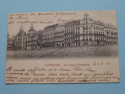 La Digue Centrale () Anno 1901 ( Zie Foto Voor Details ) !! - Oostende