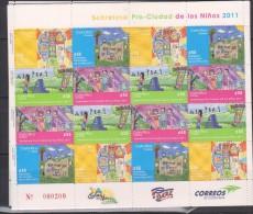 E)2011 COSTA RICA, SURTAX, PRO CITY OF CHILDREN, CHILDRENS, FAMILY, FUN AND RECREATION,  BLOCK OF 20, MNH - Costa Rica