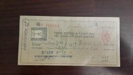 Israel-the Workers Bank Limited-(number Chek-418414)-(5lirot)-1946-(kiryat-anabim) - Israel