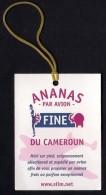 # PINEAPPLE FINE DU CAMEROUN Fruit Tag Balise Etiqueta Anhanger Ananas Pina Camerun - Fruits & Vegetables