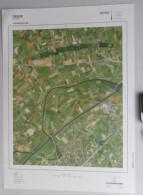GROTE-LUCHT-FOTO GRAMMENE MACHELEN PETEGEM-AAN-DE-LEIE DEINZE 1990 48x67cm ORTHOFOTOPLAN TOPOGRAPHIE PHOTO AERIENNE R708 - Deinze