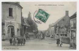 72 SARTHE - MONTREUIL LE HENRI Le Centre, Locomotive De Batteuse (voir Descriptif) - France