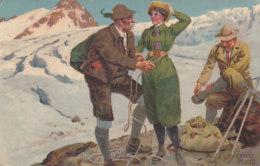 Beim Anseilen, Sign. Ernst Platz - 1907    (60718) - Sin Clasificación