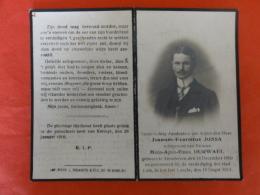 Doodsprentje Militaria WW1, WO1 Joannes Jossa, Geboren Attenhoven (Landen) 1890, Gesneuveld Loncin 1914 - Santini