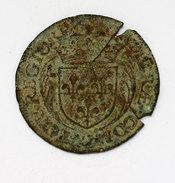 Charles IX Chambre Des Comptes 1568. Laiton. 28 Mm. 3.60 Gr. M. 174.  F. 1741 Cassé - Royaux / De Noblesse