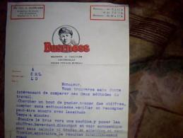 Vieux Papiers Lettre  Entete Publicitaire Machine A Calculer Universelle Business Cyril Hankard Ex Aspirant De Marine ?? - Textile & Vestimentaire