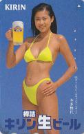 Télécarte Japon - Alcool - BIERE KIRIN & FEMME - BEER & BIKINI GIRL Japan Phonecard - BIER Telefonkarte - CERVEZA - 775 - Alimentation