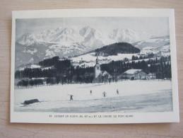 Cordon En Hiver Et La Chaine Du Mont Blanc - France