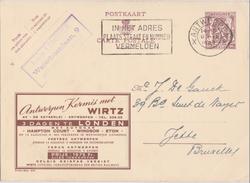 PUBLIBEL N° 874 - WIRTZ (ANTWERPEN) - Stamped Stationery