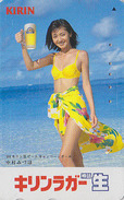 Télécarte Japon / 110-016 - Alcool - BIERE KIRIN & FEMME - BEER & BIKINI GIRL Japan Phonecard - BIER Telefonkarte - 780 - Alimentation