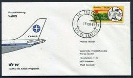 1981 Brasil Rio De Janeiro VFW Airbus VARIG Flight Cover - Luchtpost
