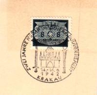 MiNr.17D Auf Briefstück Deutsches Reich Generalgouvernement Dienstpost - Besetzungen 1938-45