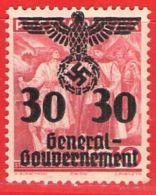 MiNr. 23 Xx  Deutschland Besetzungsausgaben II. Weltkrieg Generalgouvernement - Besetzungen 1938-45