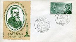 11521 Spain, Special Fdc 1967 Barcelona  European And Latin Radiology Congress, Rontgen - Medicine