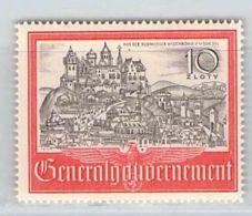 MiNr. 65 Xx Deutschland Besetzungsausgaben II. Weltkrieg Generalgouvernement - Bezetting 1938-45
