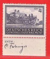MiNr.114 Xx UR Deutschland Besetzungsausgaben II. Weltkrieg Generalgouvernement - Besetzungen 1938-45