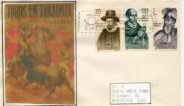 ESPAGNE. Les Conquistadors Espagnols & Vice-rois Du Pérou (Francisco De Toledo,Francisco Pizzaro,etc), Lettre FDC - American Indians