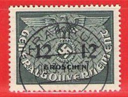 MiNr.4 O Deutschland Besetzungsausgaben II. Weltkrieg Generalgouvernement ,Dienstmarken - Besetzungen 1938-45