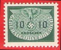 MiNr.18 Xx  Deutschland Besetzungsausgaben II. Weltkrieg Generalgouvernement Dienstmarken - Besetzungen 1938-45