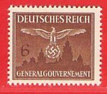MiNr.25 Xx  Deutschland Besetzungsausgaben II. Weltkrieg Generalgouvernement Dienstmarken - Bezetting 1938-45