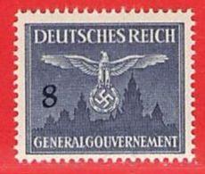 MiNr.26 Xx  Deutschland Besetzungsausgaben II. Weltkrieg Generalgouvernement Dienstmarken - Bezetting 1938-45