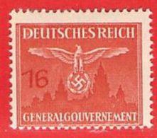 MiNr.29 Xx  Deutschland Besetzungsausgaben II. Weltkrieg Generalgouvernement Dienstmarken - Bezetting 1938-45