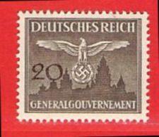 MiNr.30 Xx  Deutschland Besetzungsausgaben II. Weltkrieg Generalgouvernement Dienstmarken - Bezetting 1938-45