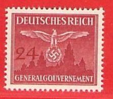 MiNr.31 Xx  Deutschland Besetzungsausgaben II. Weltkrieg Generalgouvernement Dienstmarken - Bezetting 1938-45