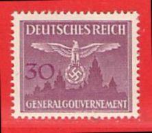 MiNr.32 Xx  Deutschland Besetzungsausgaben II. Weltkrieg Generalgouvernement Dienstmarken - Bezetting 1938-45