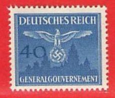 MiNr.33 Xx  Deutschland Besetzungsausgaben II. Weltkrieg Generalgouvernement Dienstmarken - Bezetting 1938-45