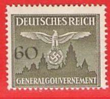 MiNr.34 Xx  Deutschland Besetzungsausgaben II. Weltkrieg Generalgouvernement Dienstmarken - Bezetting 1938-45