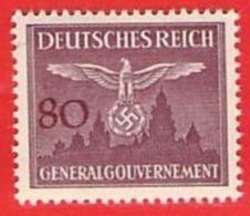 MiNr.35 Xx  Deutschland Besetzungsausgaben II. Weltkrieg Generalgouvernement Dienstmarken - Bezetting 1938-45