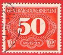 MiNr.4 O  Deutschland Besetzungsausgaben II. Weltkrieg Generalgouvernement Zustellungsmarken - Besetzungen 1938-45