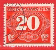 MiNr.2 O  Deutschland Besetzungsausgaben II. Weltkrieg Generalgouvernement Zustellungsmarken - Besetzungen 1938-45