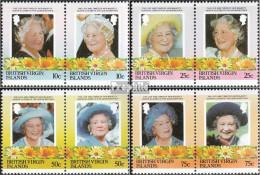 Jungferninseln 519-526 Paare (kompl.Ausg.) Postfrisch 1985 Königinmutter Elisabeth - British Virgin Islands
