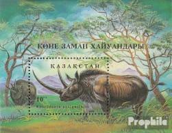 Kasachstan Block3 (kompl.Ausg.) Postfrisch 1994 Prähistorische Tiere - Kasachstan