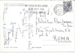 XI FIERA DI BOLZANO 1958 BOZNER NESSE AFFR. MECCANICA BILINGUE - Affrancature Meccaniche Rosse (EMA)